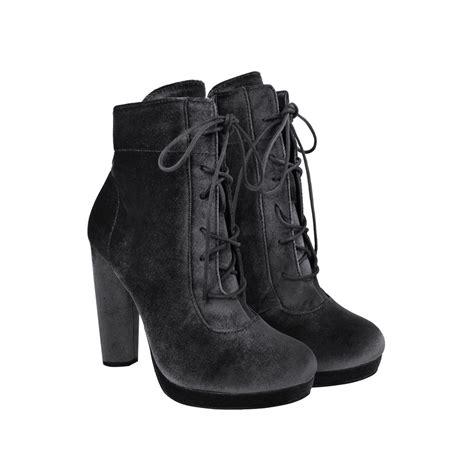 burgundy velvet block high heel platform lace up ankle