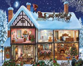 christmas house 1000 piece puzzle white mountain puzzles