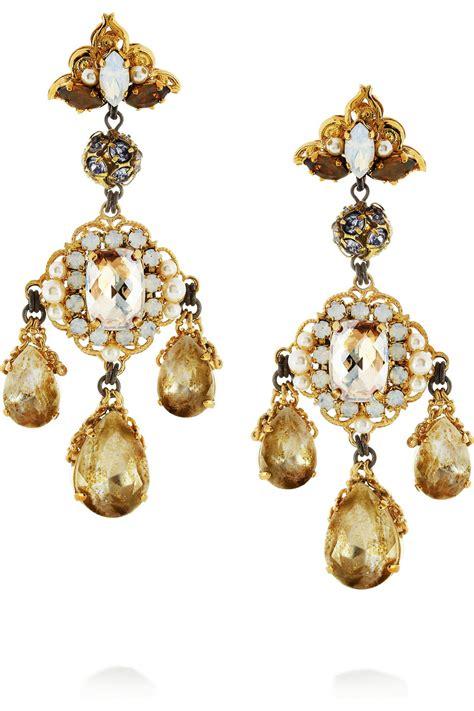 erickson beamon alyssa earrings in metallic lyst