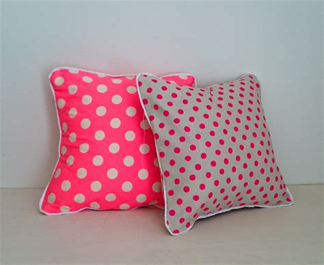 Smanate 02 Cushion Cover White Pink neon pink dot envelope cushion cover with white piping kbs designs madeit au
