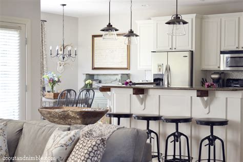 White Kitchen Living Room Combo Eclectic House Tour Colorful Decor