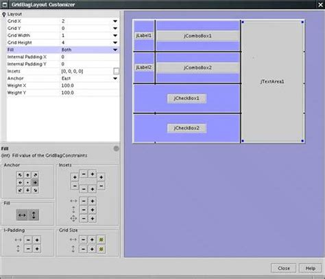 layout manager netbeans sophisticated layout management core java tm 2 volume
