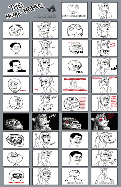 List Of Memes With Pictures - rage faces meme by retrocharo on deviantart