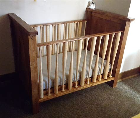 how to build a baby crib out of wood diy baby crib with a baseball twist reality daydream