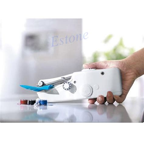 Handy Stitch Handheld Sewing Machine Mesin Jahit Portable Olb1297 portable fabric clothes handy stitch battery handheld sewing machine household 37431203526 ebay