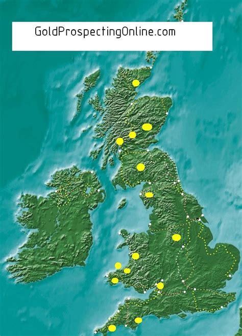 Find In The Uk United Kingdom Gold Prospecting Equipment Tips Gold Maps