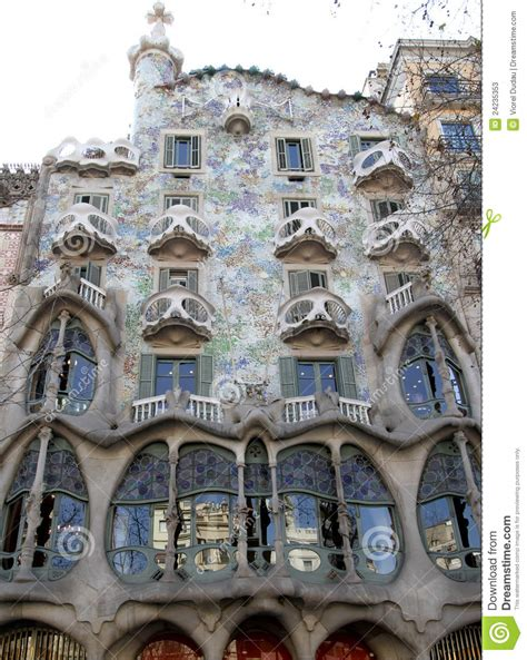 gaudi house barcelona gaudi house stock photos image 24235353