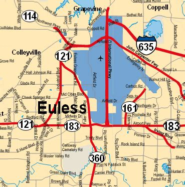 map of euless texas euless tx