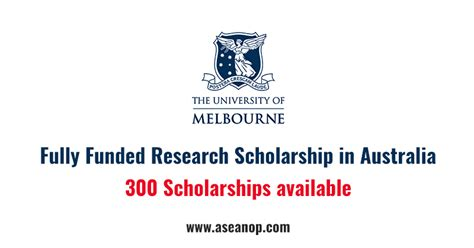 Fully Funded Mba Scholarships In Australia by Graduate Research Scholarships The Of Melbourne