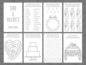 wedding activity book for template wedding activity book design by divertenti on etsy