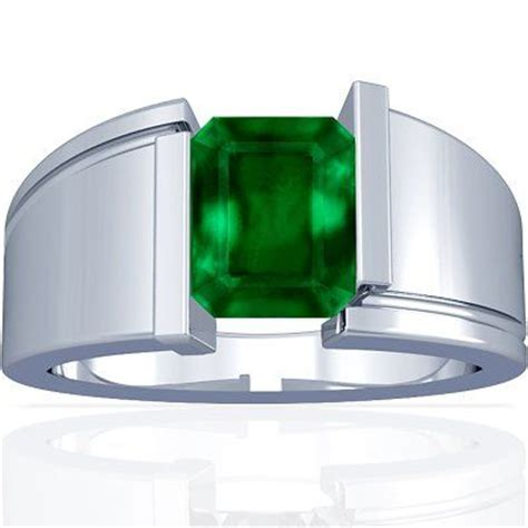 platinum emerald cut emerald mens ring reminds me of the