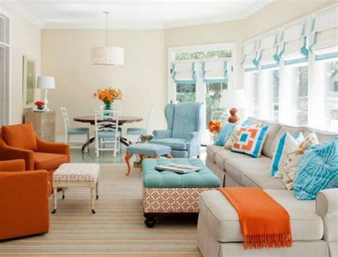 orange and blue room orange and blue living room