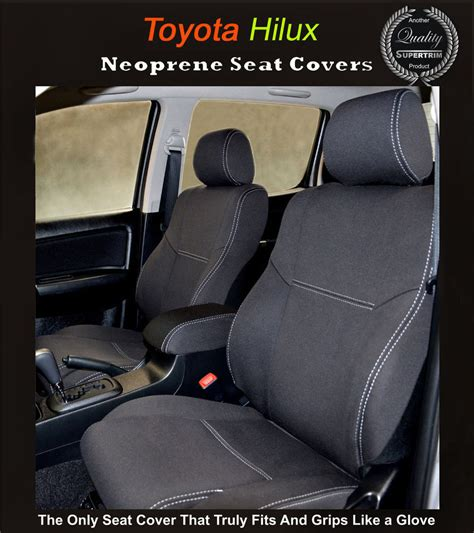 Toyota Seat Covers Hilux Front Seat Covers Back Map Pockets Toyota Hilux Sr