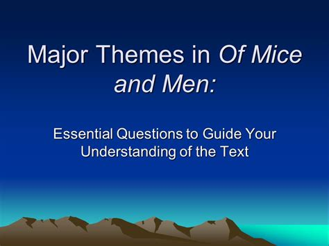 main themes of handmaid s tale questions the handmaid s tale major themes of mice and men