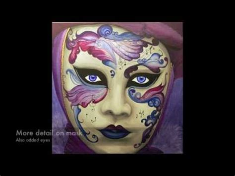 great purple carnival mask painting