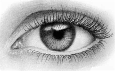 menggambar mata realistis dengan pensil