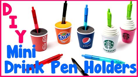 How To Make A Cool Craft Out Of Paper - diy crafts 5 easy diy pen miniature drink holders cool