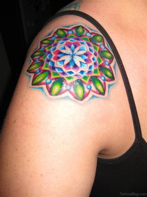 tattoo design colored 80 duper mandala designs on shoulder