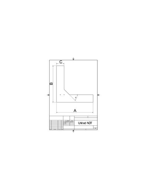 U-TB-corner-03 - Test blocks - United NDT GmbH - €362.00
