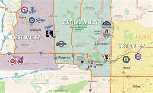 map of ballparks in arizona cactus league map and golf directory colorado avidgolfer
