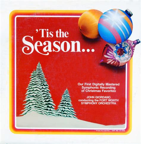 Tis The Season Also Search For Giordano Fort Worth Symphony Tis The Season 51 4150 Vinyl