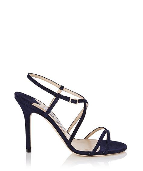 navy blue strappy sandals strappy navy heels mad heel