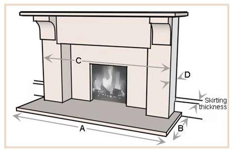 Fireplace Hearth Depth measuring chart