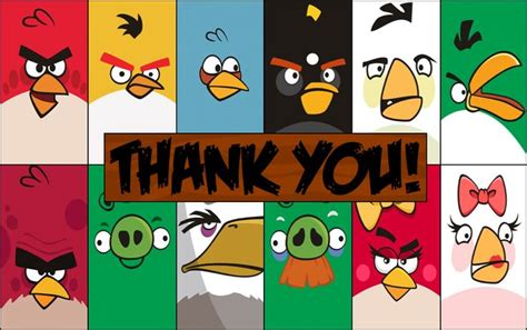printable thank you card angry birds 1000 images about angry birds on pinterest birthday
