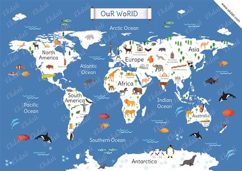 map world mouments our world map chart and posters for ekdali
