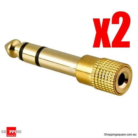 Lego Gold 330 Pcs 2 pcs headphone adaptor gold 3 5mm socket to 6 35mm