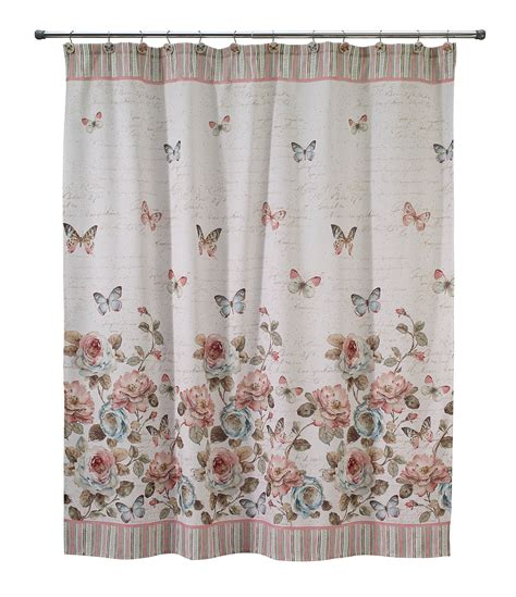 dillards curtains avanti linens butterfly garden shower curtain dillards