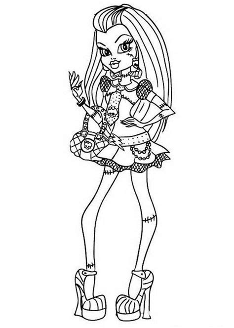 monster high coloring pages of frankie stein frankie stein monster high coloring page frankie stein