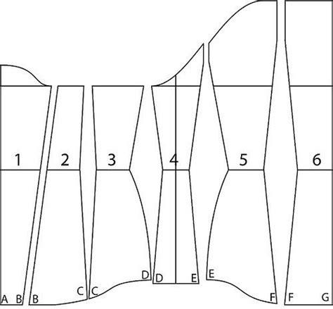 pattern cutting drawing underbust pattern tutorial corset pattern corset and