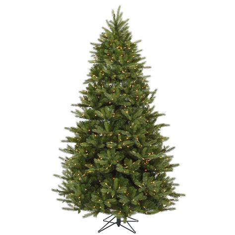 7 foot majestic frasier fir christmas tree all lit lights