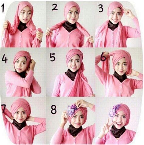 tutorial hijab resmi kondangan contoh tutorial hijab modern untuk pesta terbaru 2016