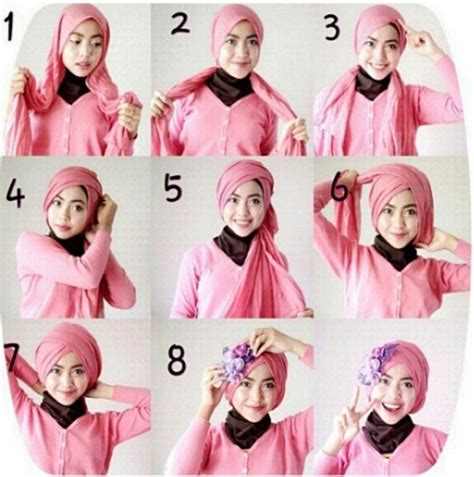 tutorial hijab kondangan modern contoh tutorial hijab modern untuk pesta terbaru 2016