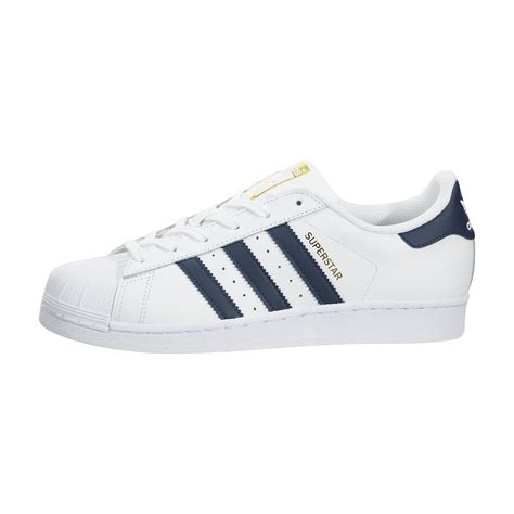 adidas superstar foundation casual shoe white navy