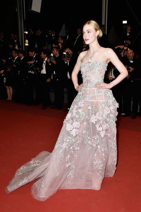Carpet Clothes From Gorgeous Couture by Cannes Style Fanning In Chanel And
