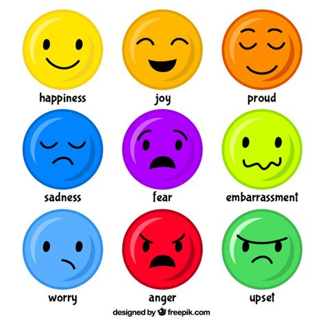 good mood colors mood emoticons vector free download