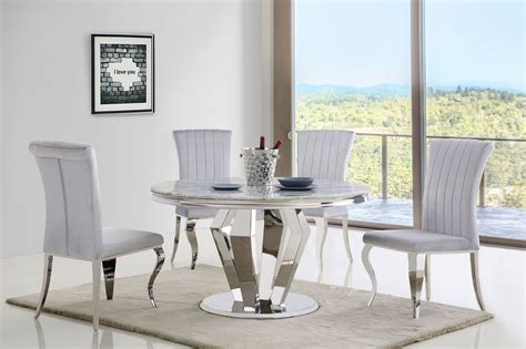 grey marble dining table   velvet chairs