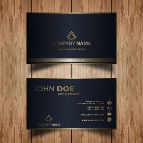 Free Vintage Style Business Card Template by Business Card In Vintage Style Vector Free