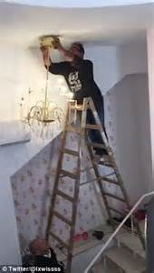 Fools And Horses Chandelier Diyer Drops A Chandelier And Tumbles From His Ladder In