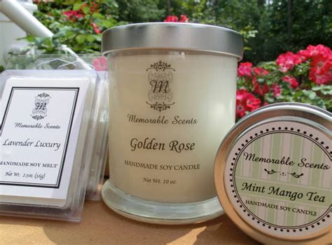Soy Candle Labels By Memorable Scents Customer Ideas Onlinelabels Com Candle Label Templates