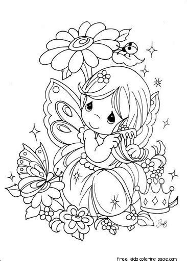 coloring pages flower girl precious moments girl with flowers coloring pages for