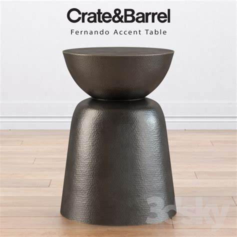 crate and barrel accent tables 3d models table crate and barrel fernando accent table