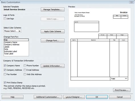 windows invoice template look professional with customized quickbooks forms