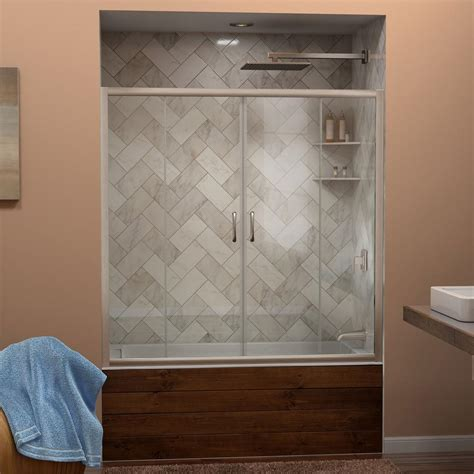 Dreamline Visions 56 In To 60 In W X 58 In H Semi Laurence Shower Doors