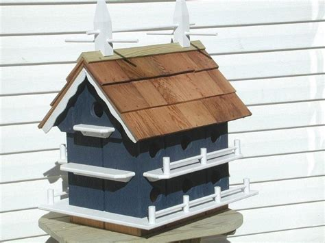 Dutch Colonial Home Plans Amish Garden Colonial Martin Bird House With 14 Compartments