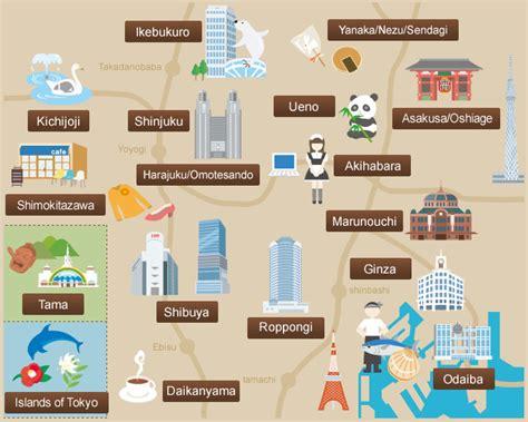 tokyo map tourist attractions detail tokyo city travel destinations map