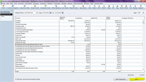 For the pro s export working trial balance to excel a quickbooks